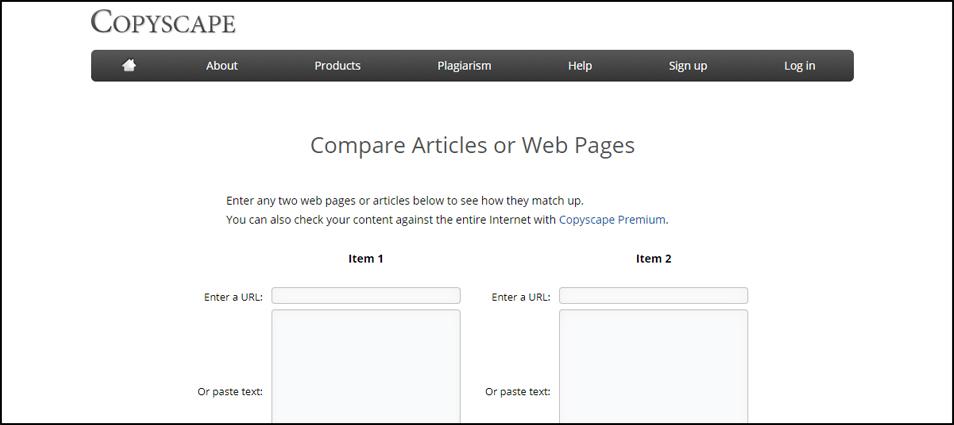 Copyscape Compare Blogging Tools