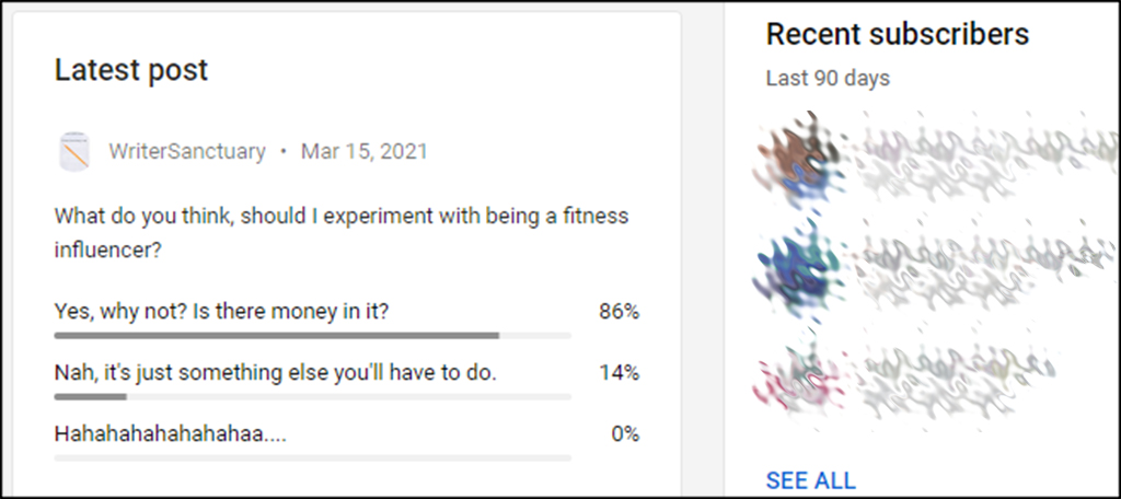 Fitness Influencer Poll